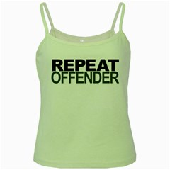 Repeat Offender Green Spaghetti Top
