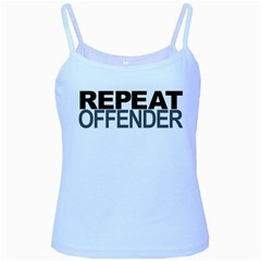 Repeat Offender Baby Blue Spaghetti Top