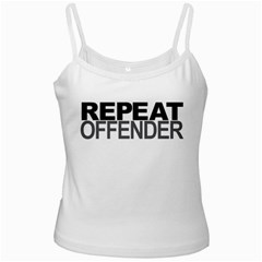 Repeat Offender White Spaghetti Top
