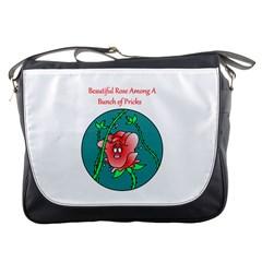 A Rose Among Pricks Messenger Bag