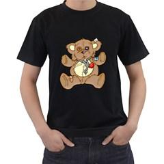 Papa Bear Black Mens'' T-shirt