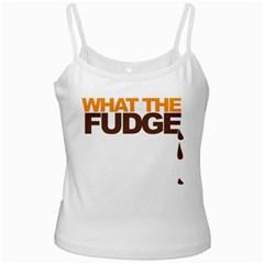 What The Fudge White Spaghetti Top
