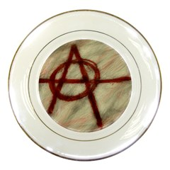 Anarchy Print Porcelain Display Plate
