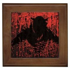Tormented Devil Framed Ceramic Tile