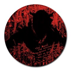 Tormented Devil 8  Mouse Pad (Round)