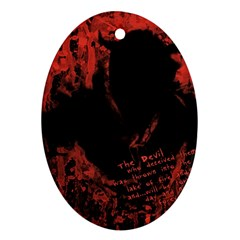 Tormented Devil Ceramic Ornament (Oval)
