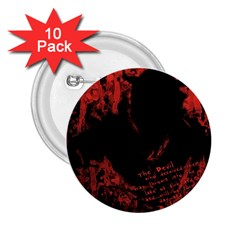 Tormented Devil 10 Pack Regular Button (round)