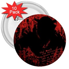 Tormented Devil 10 Pack Large Button (Round)