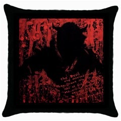 Tormented Devil Black Throw Pillow Case