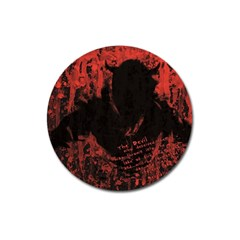 Tormented Devil Large Sticker Magnet (Round)