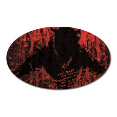 Tormented Devil Large Sticker Magnet (Oval)