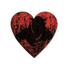 Tormented Devil Large Sticker Magnet (Heart)