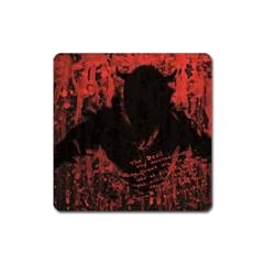 Tormented Devil Large Sticker Magnet (Square)