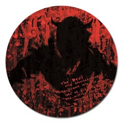 Tormented Devil Extra Large Sticker Magnet (Round)