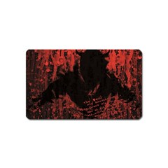 Tormented Devil Name Card Sticker Magnet