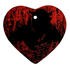 Tormented Devil Heart Ornament (Two Sides)