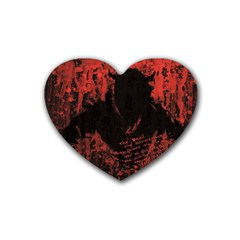 Tormented Devil 4 Pack Rubber Drinks Coaster (Heart)
