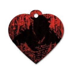 Tormented Devil Single-sided Dog Tag (Heart)