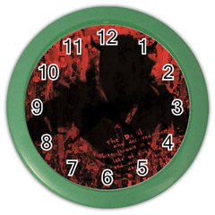 Tormented Devil Colored Wall Clock