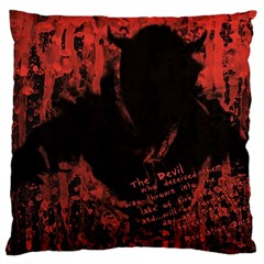 Tormented Devil Large Cushion Case (Two Sides)