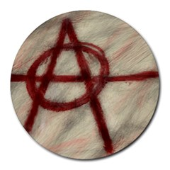Anarchy 8  Mouse Pad (Round)