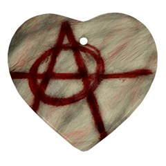Anarchy Ceramic Ornament (Heart)