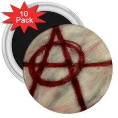 Anarchy 10 Pack Large Magnet (Round)