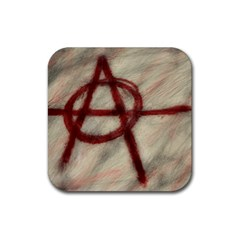 Anarchy Rubber Drinks Coaster (Square)