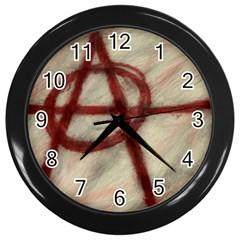 Anarchy Black Wall Clock