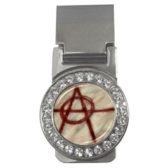 Anarchy Money Clip with Gemstones (Round)