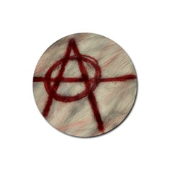 Anarchy Rubber Drinks Coaster (round)