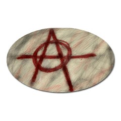 Anarchy Large Sticker Magnet (Oval)