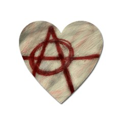 Anarchy Large Sticker Magnet (heart)