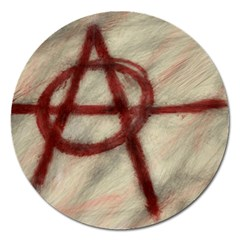 Anarchy Extra Large Sticker Magnet (Round)