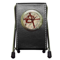 Anarchy Stationery Holder Clock