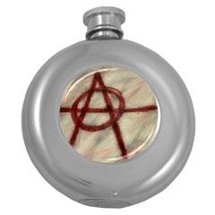 Anarchy Hip Flask (round)