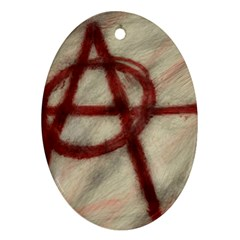 Anarchy Oval Ornament (two Sides)