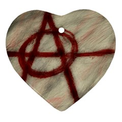 Anarchy Heart Ornament (Two Sides)