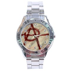 Anarchy Stainless Steel Analogue Watch (Round)