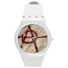 Anarchy Round Plastic Sport Watch Medium