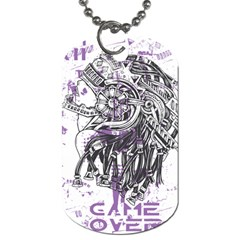 Game Over Single-sided Dog Tag