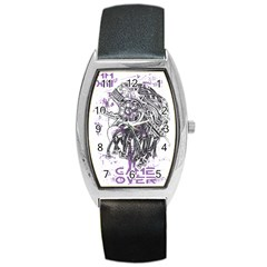 Game Over Black Leather Watch (Tonneau)