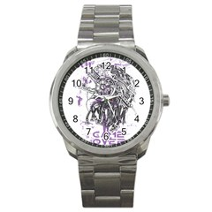 Game Over Stainless Steel Sports Watch (Round)