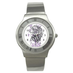 Game Over Stainless Steel Watch (round)