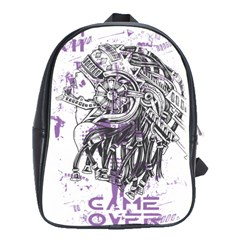 Game Over Large School Backpack