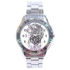Game Over Stainless Steel Analogue Watch (Round)