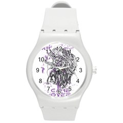 Game Over Round Plastic Sport Watch Medium