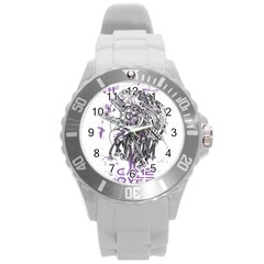 Game Over Round Plastic Sport Watch Large