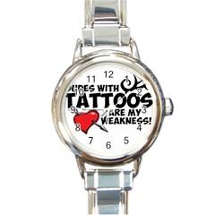 Dudes with Tattoos Classic Elegant Ladies Watch (Round)