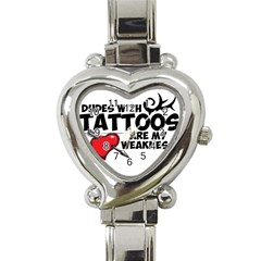 Dudes With Tattoos Classic Elegant Ladies Watch (heart)